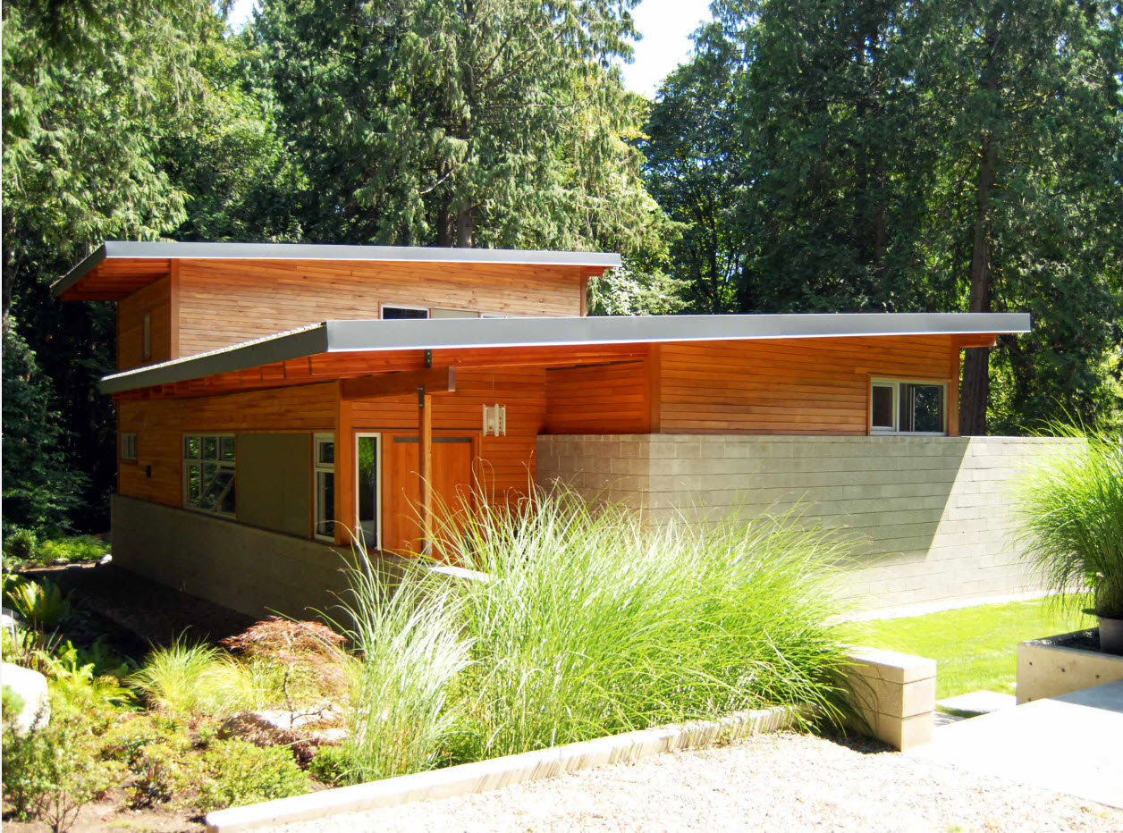 Яркая древесины для фасада