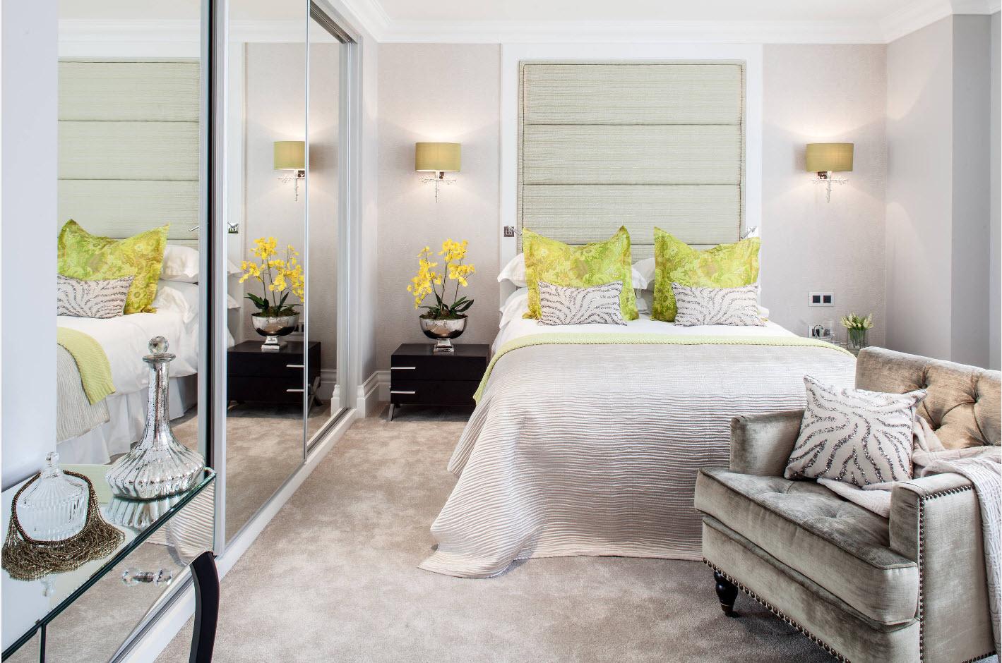 Светлый дизайн спальни