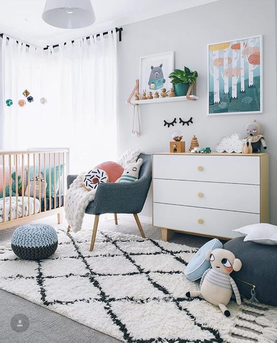 Дизайн комнаты для младенца