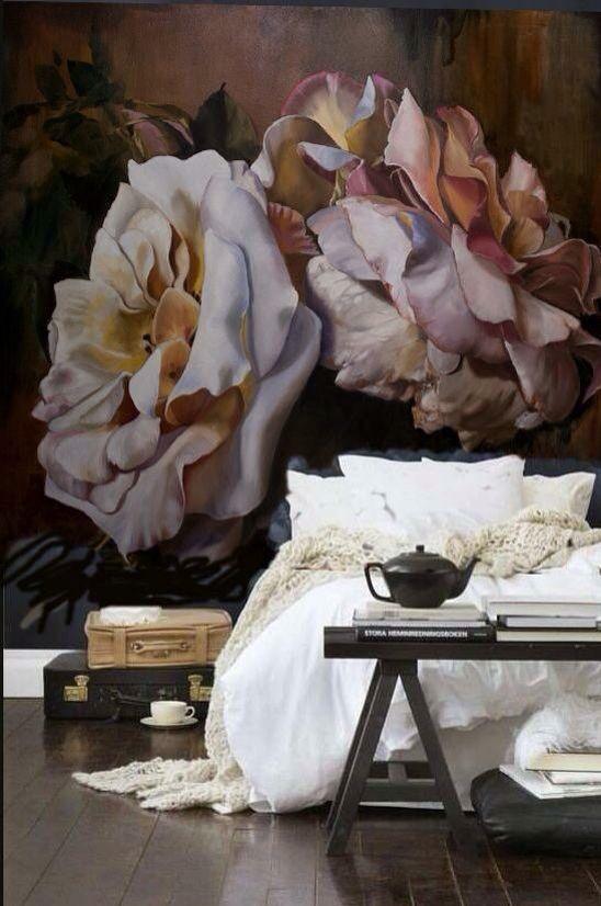 Эффектные розы для спальни