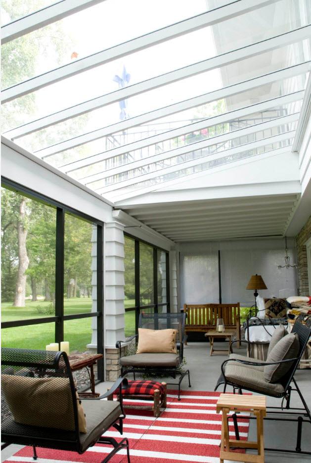 Каленое стекло на крыше