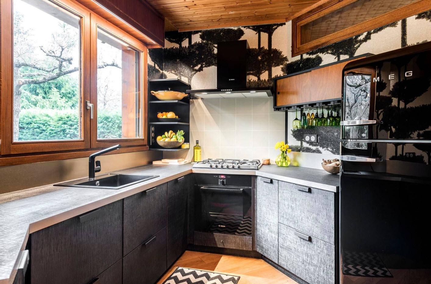 Сложная геометрия кухни