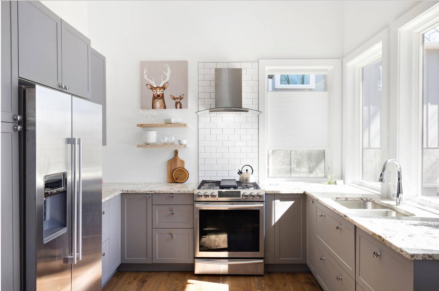 Кухонный интерьер частного дома