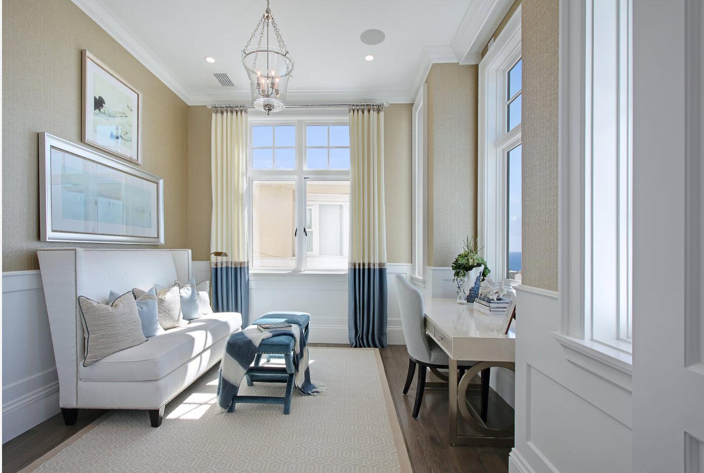 Светлый дизайн гостиной