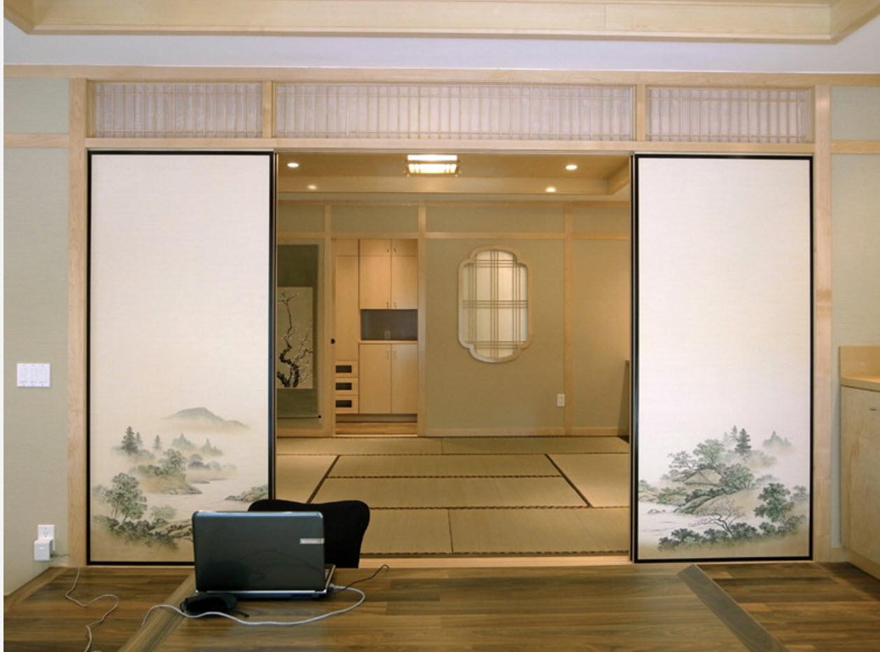 Двери-ширмы с принтом