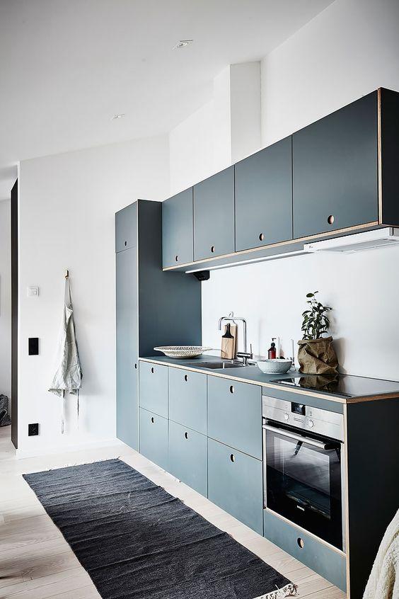 Лаконичный дизайн мебельного гарнитура