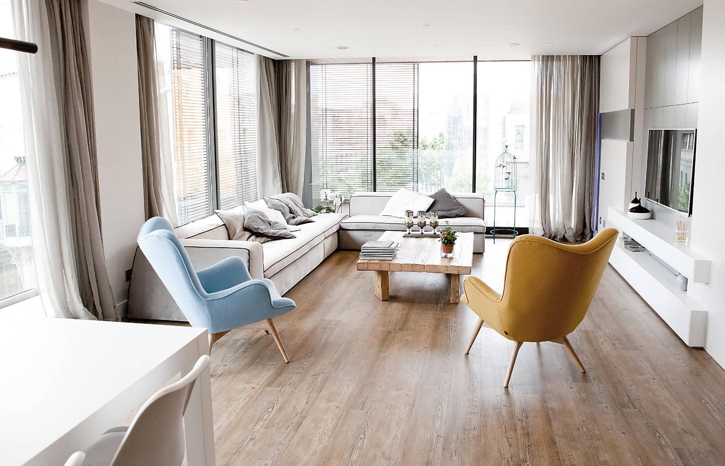 Кресла как элемент зонирования