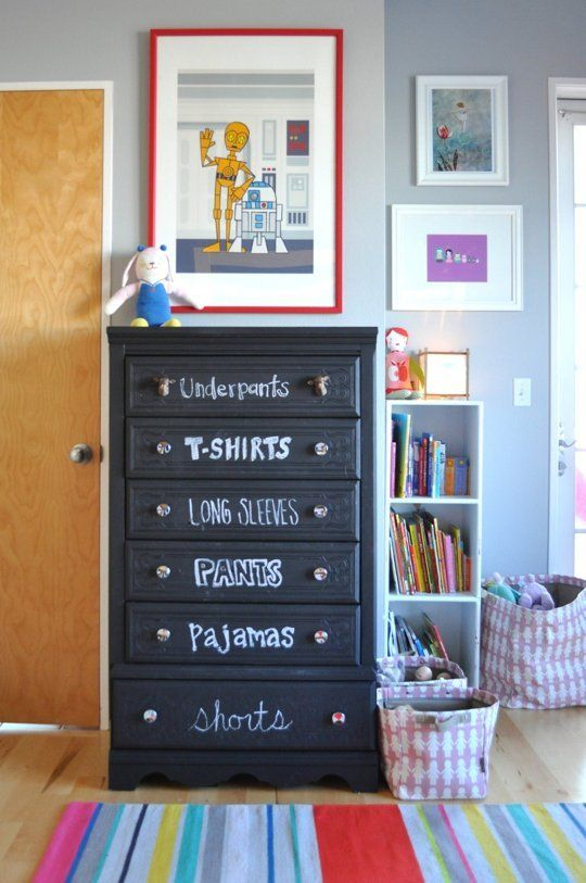 Системы хранения в детской комнате