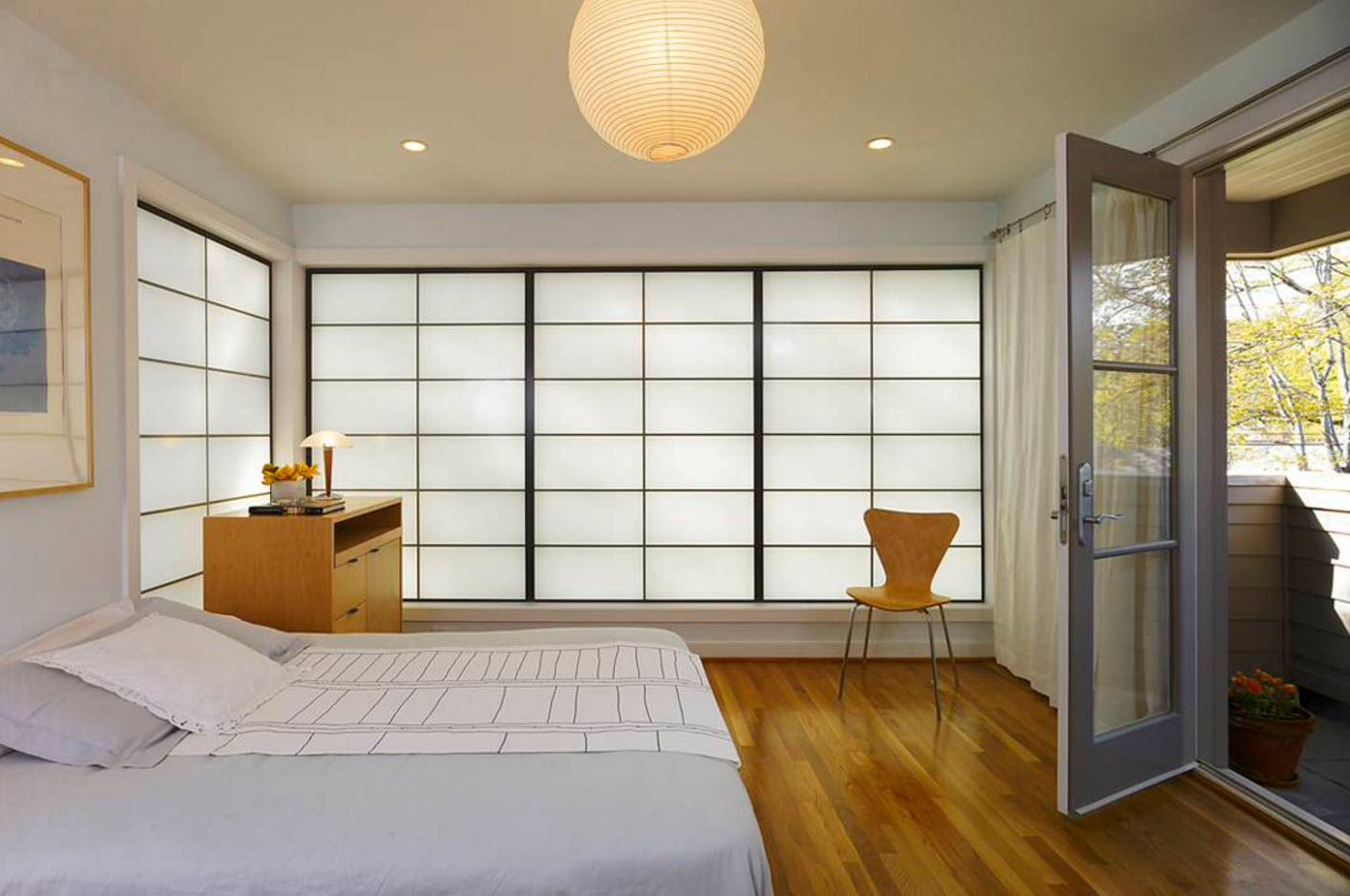 Спальня с японскими элементами