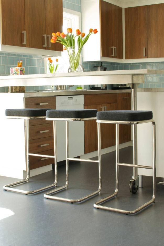 Серый тон для кухни