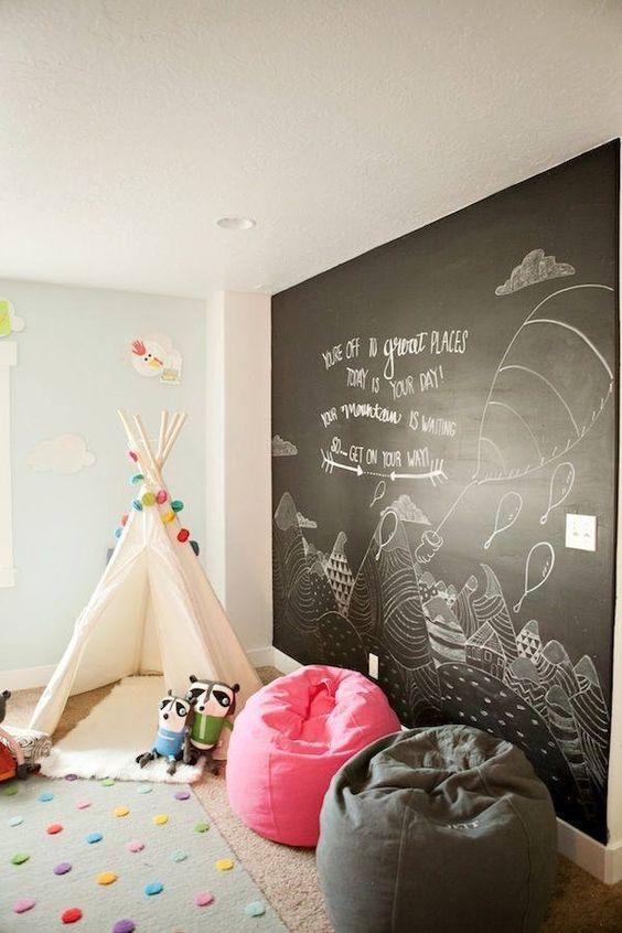 Черная стена для рисования