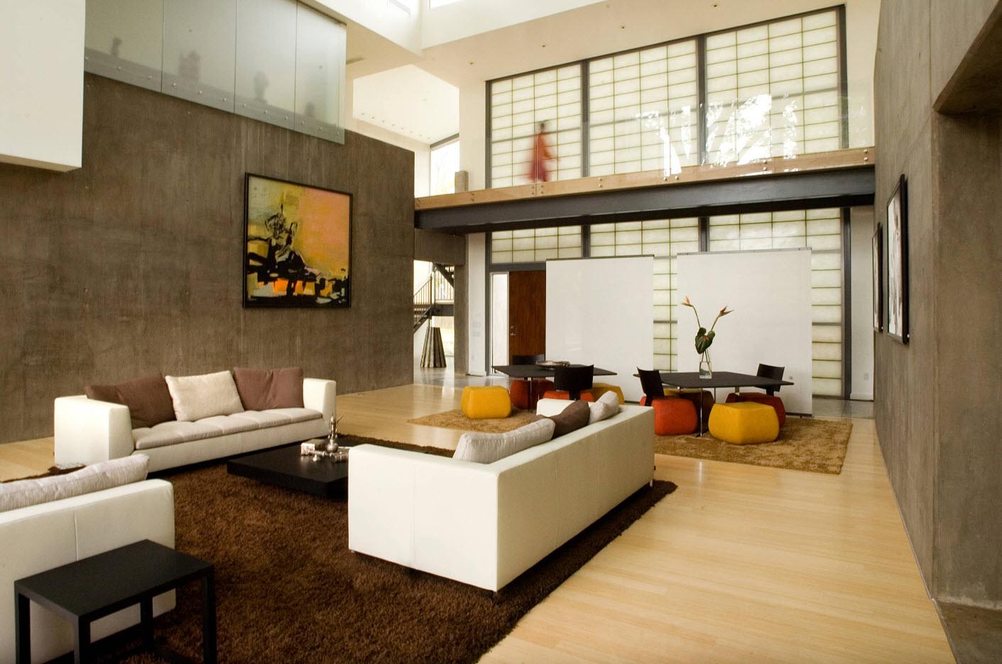 Дизайн для просторной гостиной
