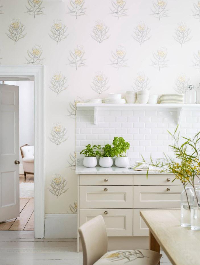Светлый кухонный дизайн