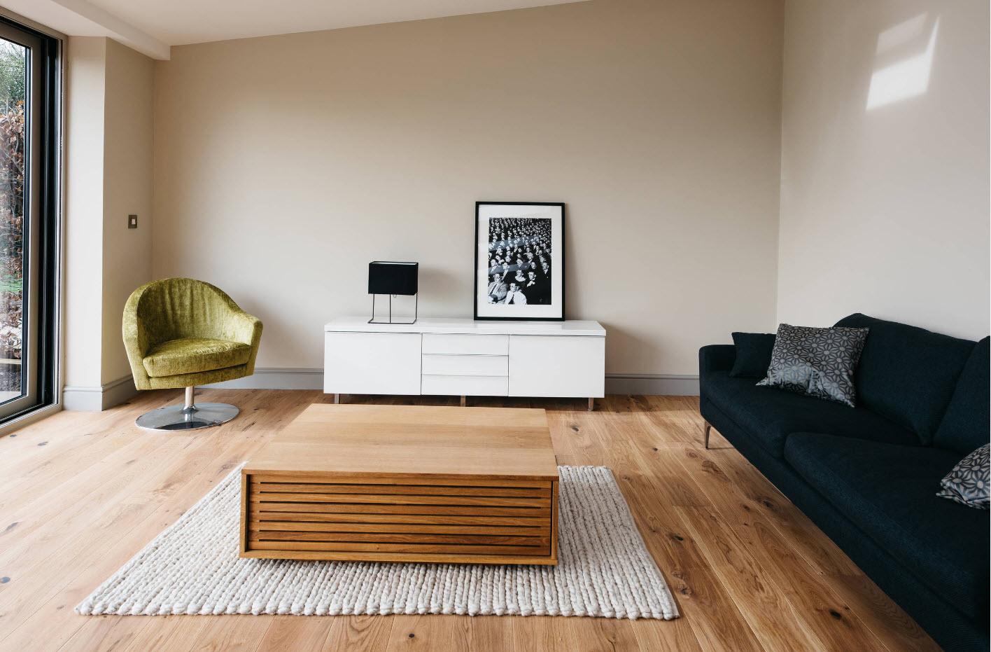 Контрастно-темный диван
