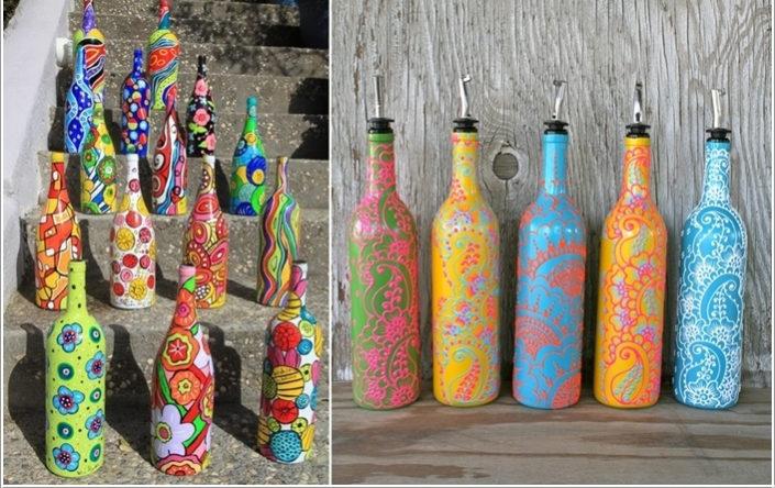 100 лучших идей: декор бутылок своими руками на фото