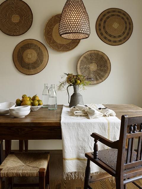 Плетеные тарелки для столовой
