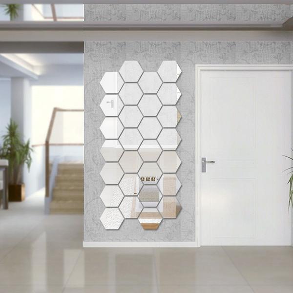 Зеркала в виде пчелиных сот