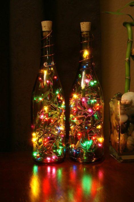 Гирлянды из бутылок своими руками