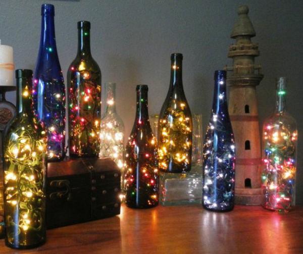 Иллюминация в бутылках