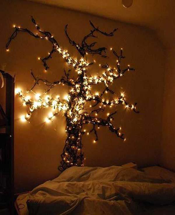 Дерево из гирлянды