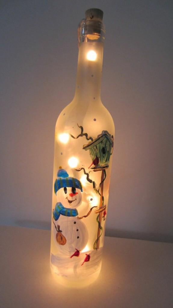 Гирлянда в бутылке