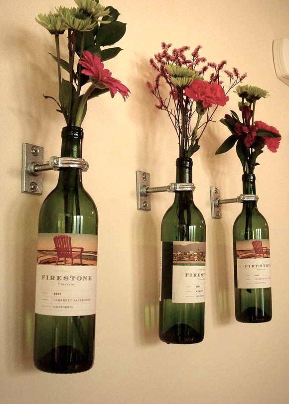 Бутылки как вазы