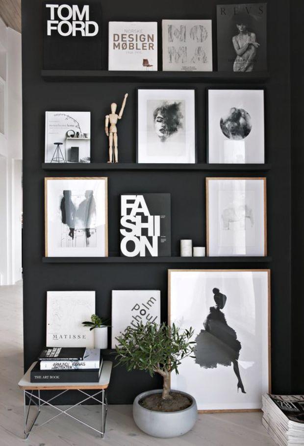 Декор на черном фоне