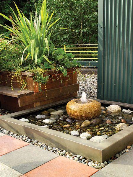 Камни, бетон и растения