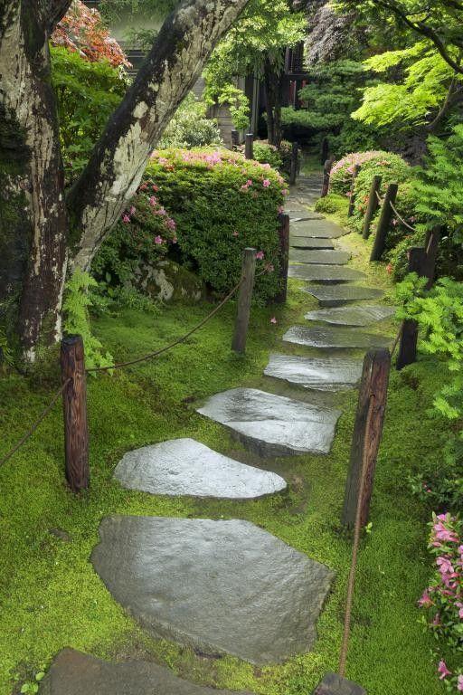 Элементы дорожки на фоне травы