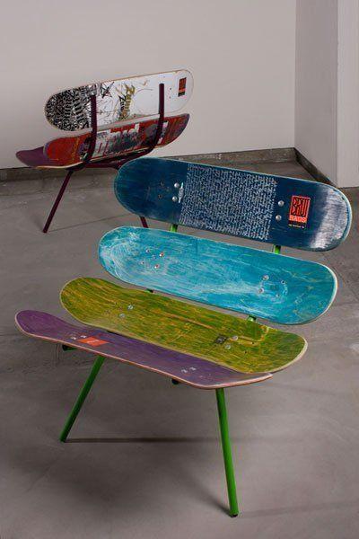 Стул из скейтбордов