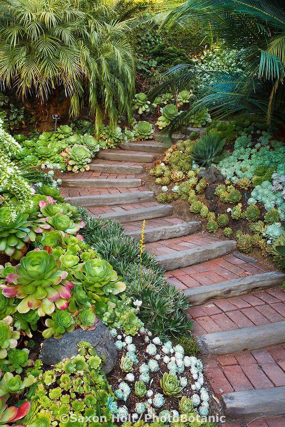 Дорожка со ступенями