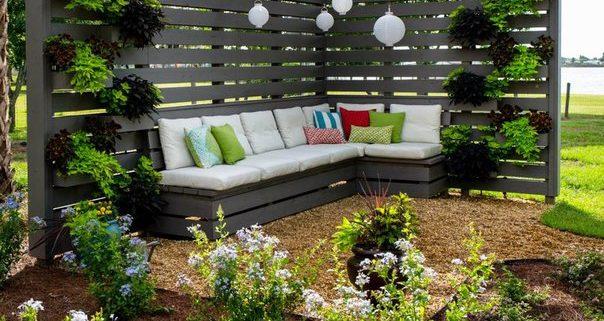 Эстетика садовой мебели из подручных материалов