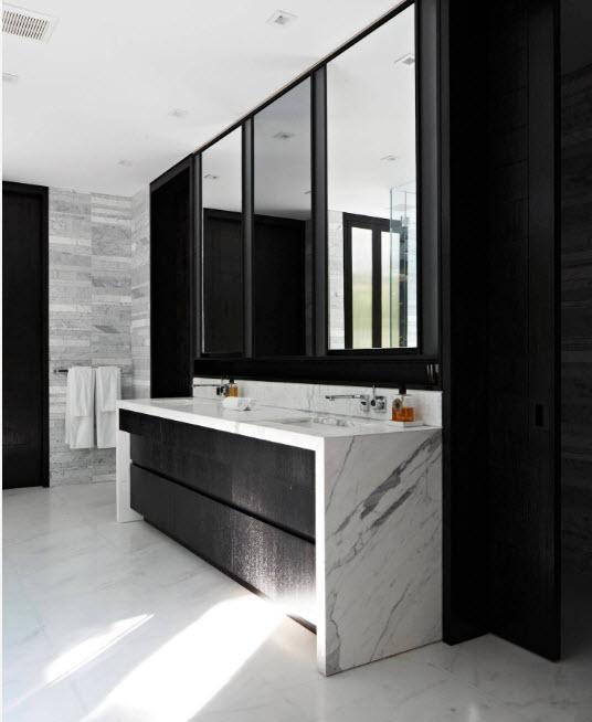 Черно-белый дизайн санузла