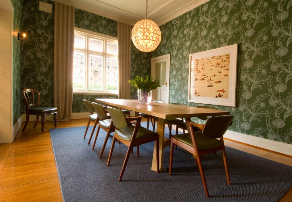 Нетривиальный дизайн столовой