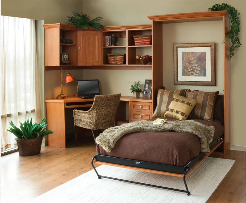 Небольшая вертикальная кровать