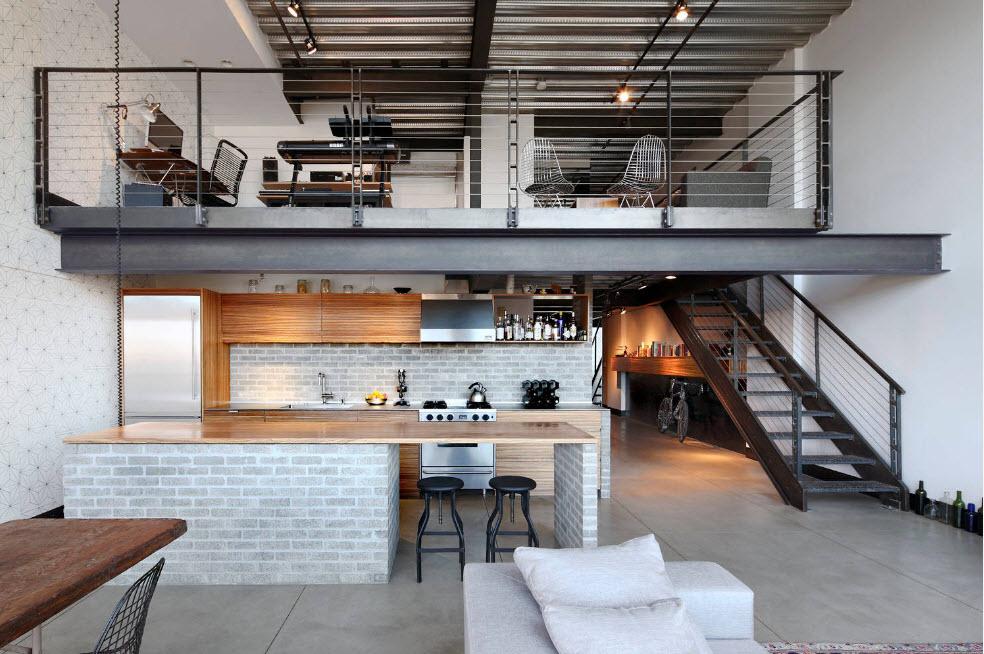 Кухня на нижнем уровне