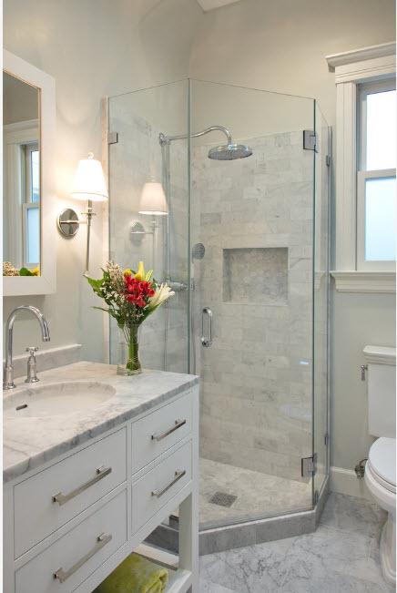 Светлый дизайн ванной