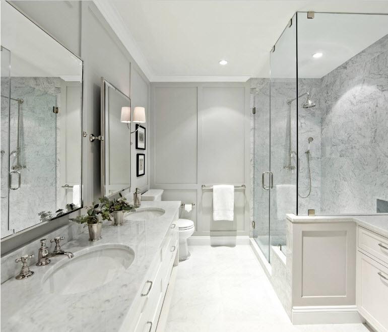 Отделка просторной ванной