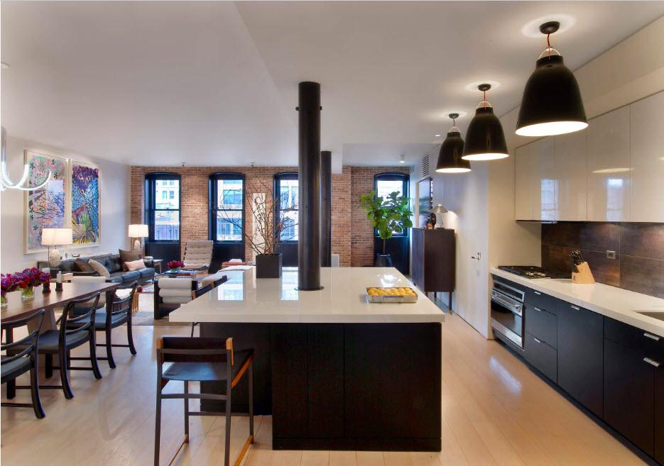 Кухня-гостиная-столовая