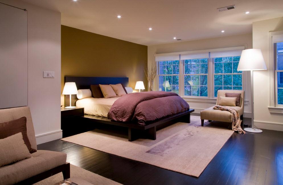 Темные поверхности в спальне