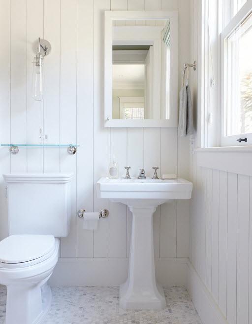 Светлый образ ванной