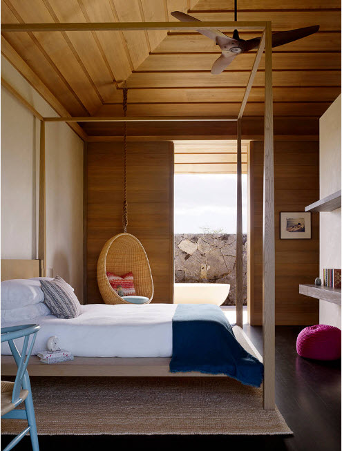 Уголок для чтения в спальне