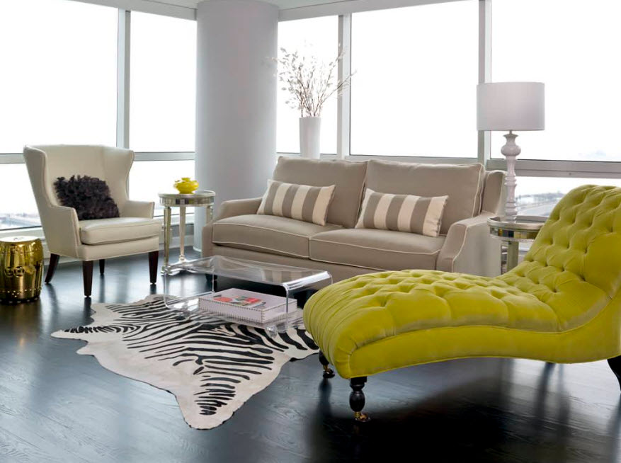 Акцент на обивку мебели