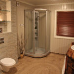 Душевая кабинка в интерьере ванной комнаты