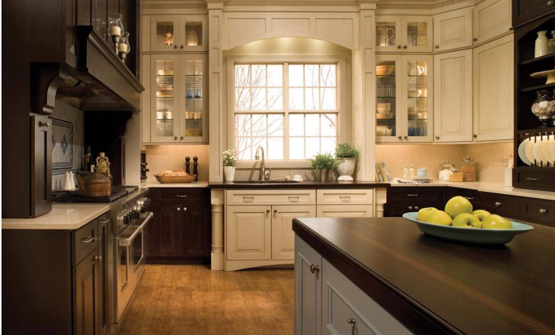 Контрастный дизайн кухни