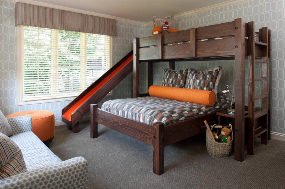 Спальное место и игровой центр