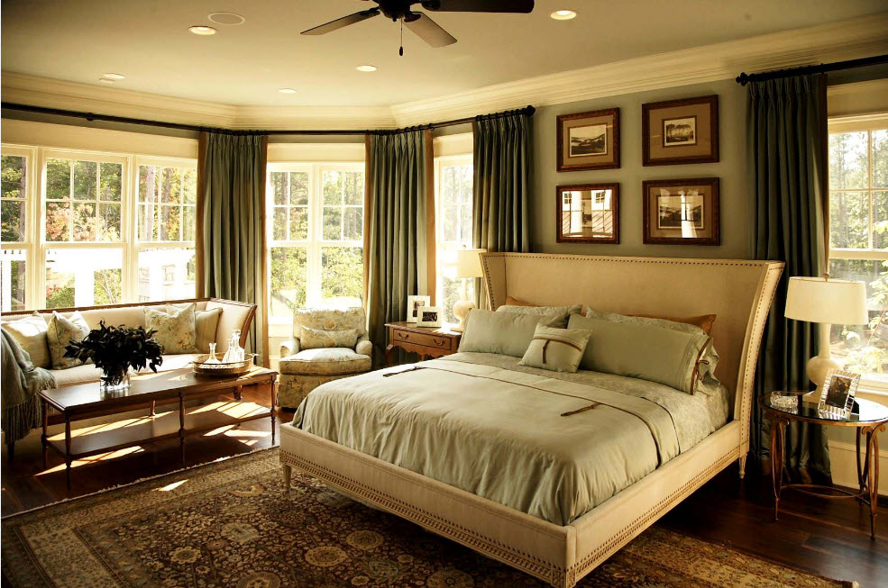 Нейтральные оттенки в спальне