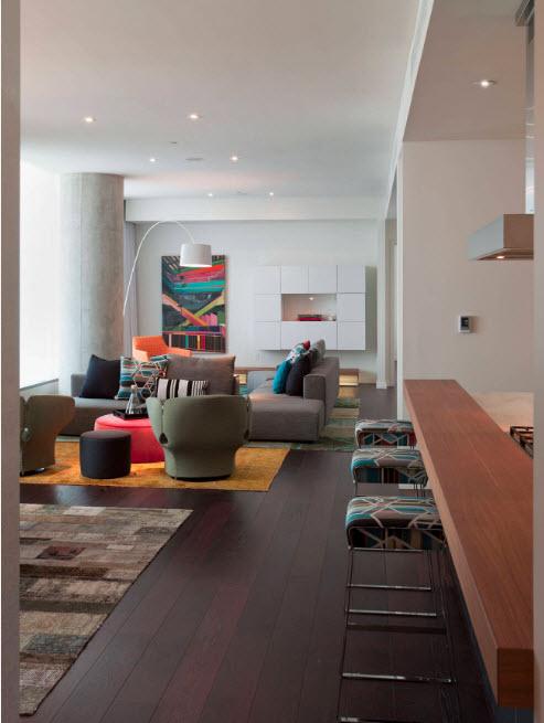 Гостиная-студия и цвет венге