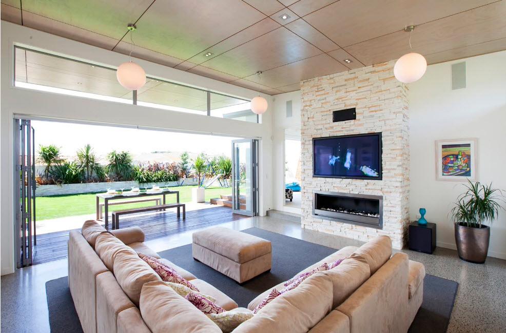Дизайн для комнаты с высоким потолком