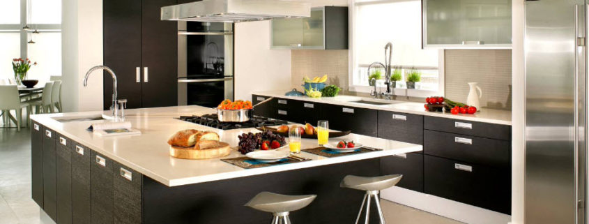 Цвет венге в интерьере современной кухни